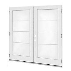 6 ft.  French Door, 4 Lite Door Glass, LowE Argon, RH,  Outswing, 4  9/16 inch Jamb,  West