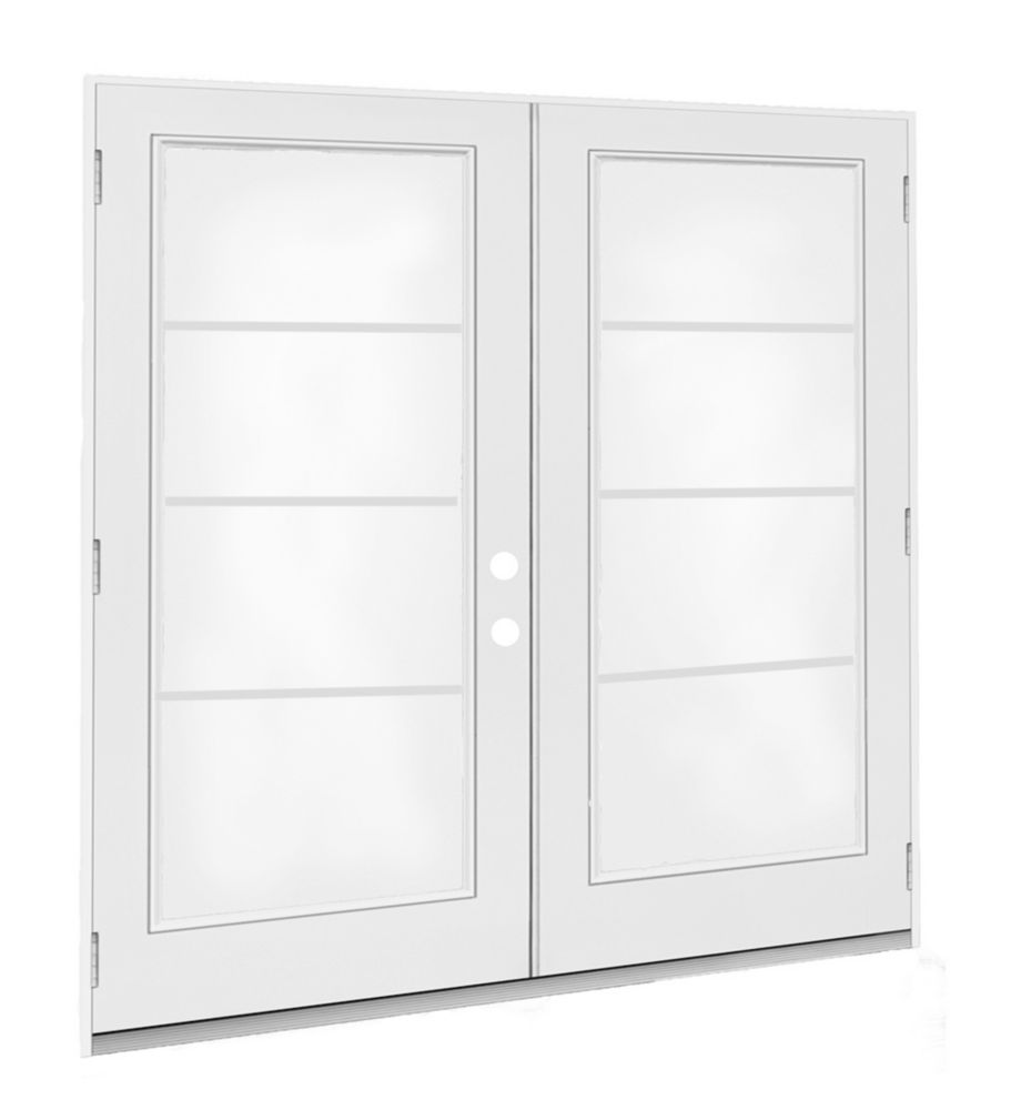 6 ft.  French Door, 4 Lite Door Glass, LowE Argon, LH,  Outswing, 4  9/16 inch Jamb,  West - ENERGY STAR®