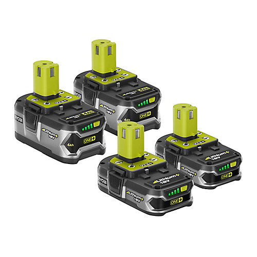 18V ONE+ Lithium+ Li-Ion Battery Kit with (2) 4.0Ah Batteries and (2) 1.5Ah Batteries