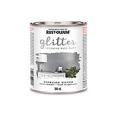 Rust-Oleum  Interior Wall Paint Sterling Silver 946ml