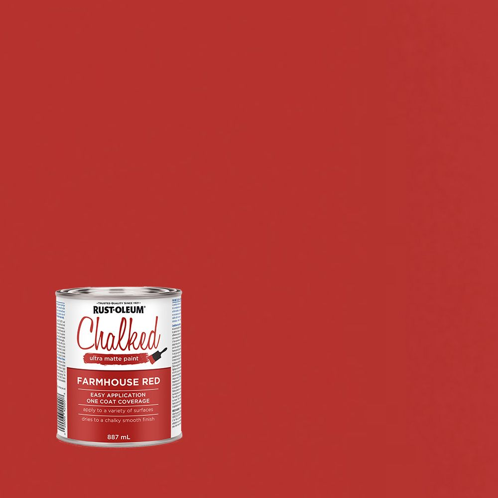 Chalked Paint Farmhouse Red 887ml