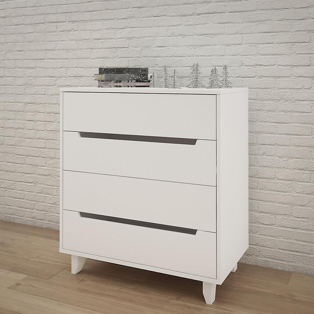 Aura 4-Drawer Chest, White