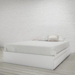 Nexera Lit double Aura 3 tiroirs, Blanc