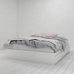Nexera Aura 3 Drawer Queen Size Bed, White