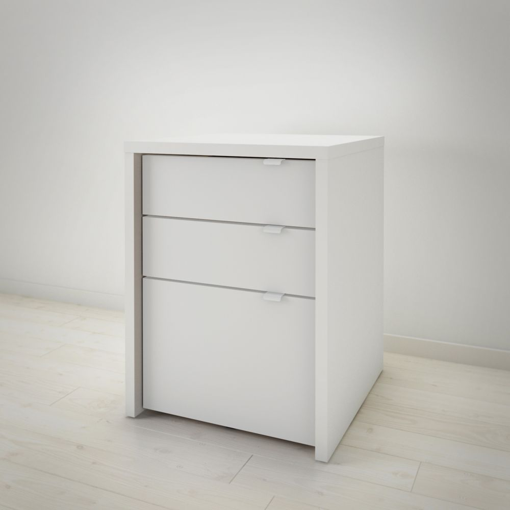 Nexera Chrono 3-Drawer Filing Cabinet in White