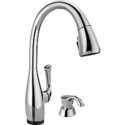 Delta DIAMOND Single-Handle Pull-Down Sprayer Kitchen Faucet with ShieldSpray in Stainless Steel