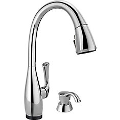 DIAMOND Single-Handle Pull-Down Sprayer Kitchen Faucet with ShieldSpray in Stainless Steel
