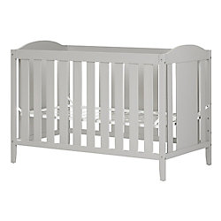 South Shore Cookie Crib with Toddler rail, Soft Gray