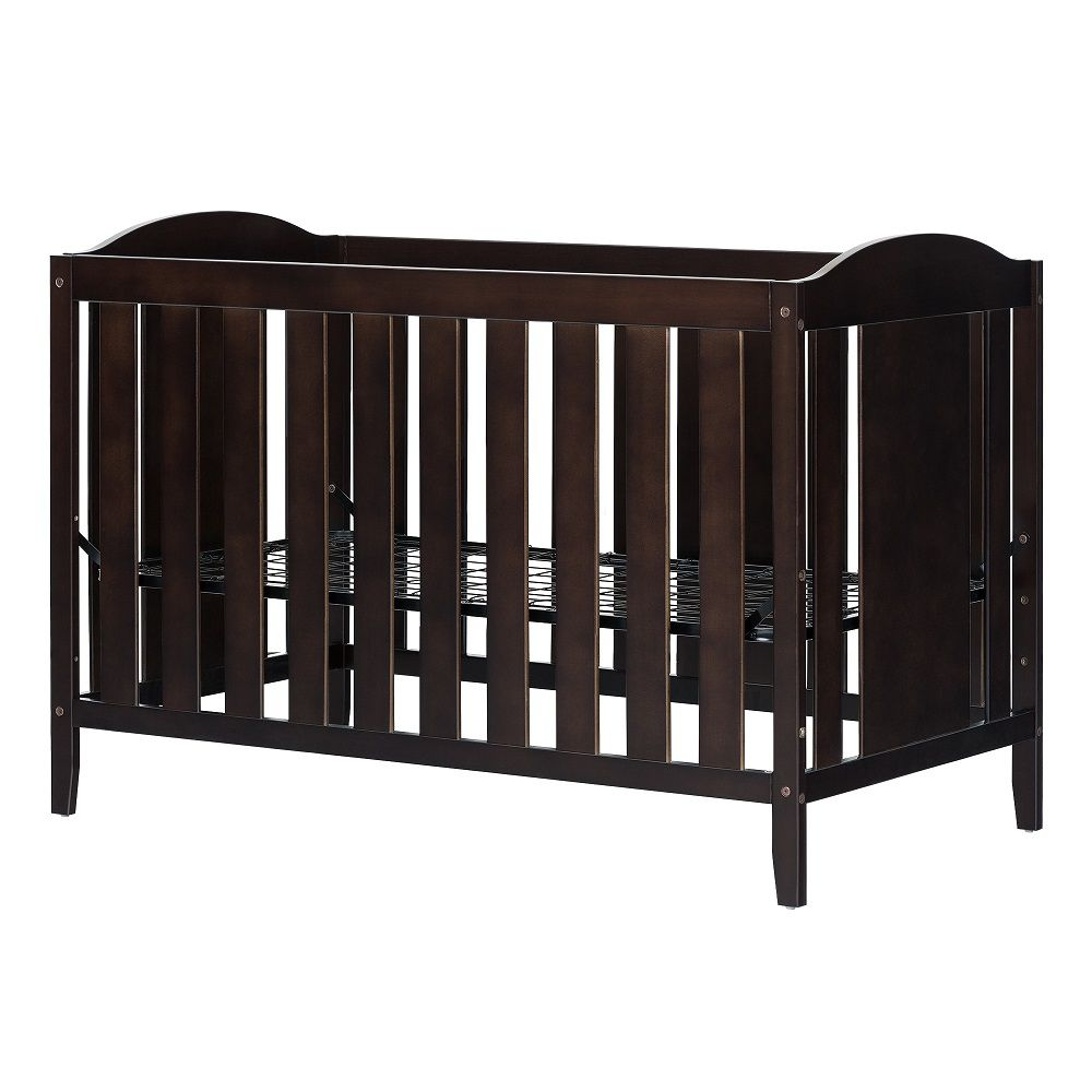 South Shore Fundy Tide Crib with Toddler rail, Espresso