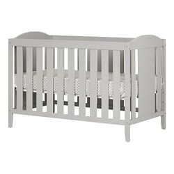 South Shore Angel Soft Gray Crib with Toddler rail, and Mattress