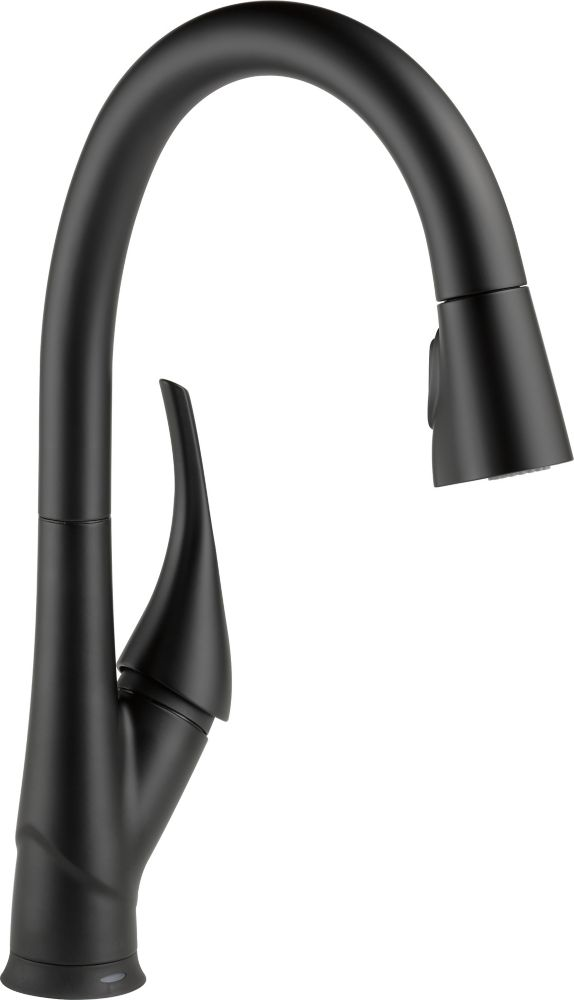Delta Esque Pull-Down Kitchen Faucet Featuring Touch2O and ShieldSpray Technologies, Matte Black