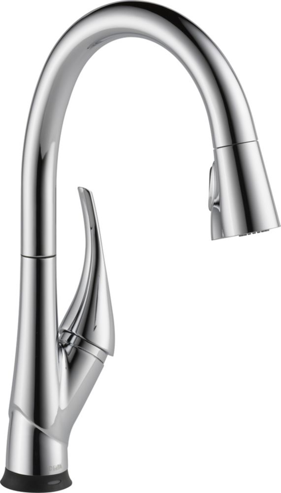 Delta Esque Pull-Down Kitchen Faucet Featuring Touch2O and ShieldSpray Technologies, Chrome