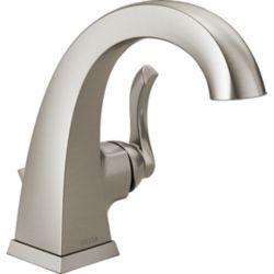 Delta Robinet de salle de bains centré à 1 poignée Everly, 4 po, nickel brossé Spot Resist
