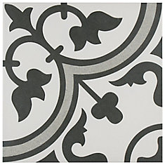 Arte Grey 9-3/4-inch x 9-3/4-inch Porcelain Floor and Wall Tile (11.11 sq. ft. / case)