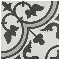 Merola Tile Arte Grey 9-3/4-inch x 9-3/4-inch Porcelain Floor and Wall Tile (11.11 sq. ft. / case)