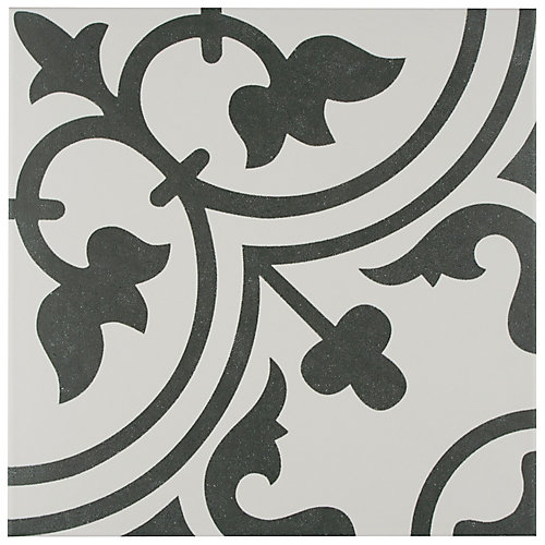 Arte White 9-3/4-inch x 9-3/4-inch Porcelain Floor and Wall Tile (11.11 sq. ft. / case)