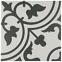 Arte White 9 3/4-inch x 9 3/4-inch Porcelain Floor and Wall Tile (10.76 sq. ft. / case)