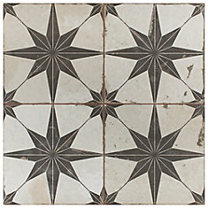 Kings Star Nero 17 5/8-inch x 17 5/8-inch Ceramic Floor and Wall Tile (11.02 sq. ft. / case)