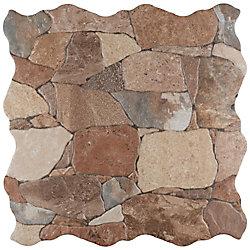 Carreau en céramique pour sol/mur Attica Caldera 16 7/8 po x 16 7/8 po (14,15 pi2/boîte)