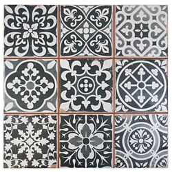 Merola Tile Faenza Nero 13-inch x 13-inch Ceramic Floor and Wall Tile (12.2 sq. ft. / case)