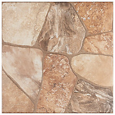 Lyon Beige 17-3/4-inch x 17-3/4-inch Ceramic Floor and Wall Tile (18 sq. ft. / case)