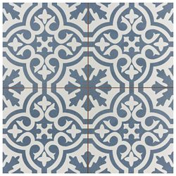 Merola Tile Berkeley Blue 17 5/8-inch x 17 5/8-inch Ceramic Floor and Wall Tile (11.02 sq. ft. / case)