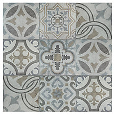 Llanes Jet 13-1/8-inch x 13-1/8-inch Ceramic Floor and Wall Tile (10.76 sq. ft. / case)