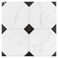 Betera Jet Blanco 13 1/8-inch x 13 1/8-inch Ceramic Floor and Wall Tile (10.76 sq. ft. / case)
