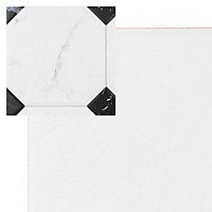 Carreau en céramique pour sol/mur Betera Jet Blanco 13 1/8 po x 13 1/8 po (11,18 pi2/boîte)