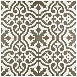 Merola Tile Berkeley Charcoal Brown 17 5/8-inch x 17 5/8-inch Ceramic Floor and Wall Tile (11.02 sq. ft. / case)