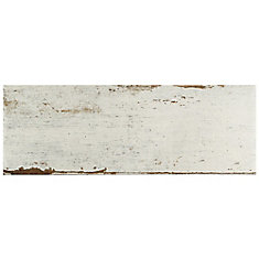 Retro Blanc 8 1/4-inch x 23 1/2-inch Porcelain Floor and Wall Tile (11.22 sq. ft. / case)