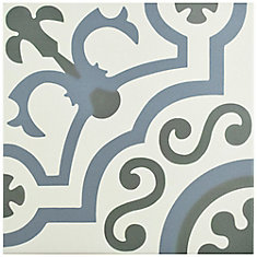 Hidraulico Ducados 9 3/4-inch x 9 3/4-inch Porcelain Floor and Wall Tile (10.76 sq. ft. / case)