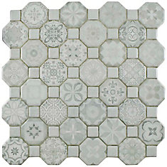 Tessera White 12-1/4-inch x 12-1/4-inch Ceramic Floor and Wall Tile (14.11 sq. ft. / case)