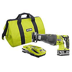 RYOBI Kit de scie à guichet 18V ONE+ avec batterie, chargeur et étui Lithium Plus 4.0Ah