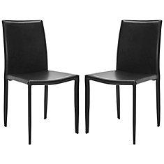 Karna Dining Chair in Black - Set of 2