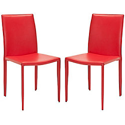 Safavieh Karna Dining Chair in Red (Set of 2)
