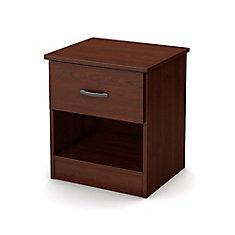 Table de chevet 1 tiroir Libra, Cerisier royal