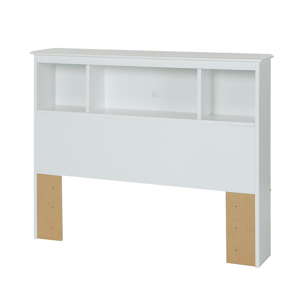 Tête de lit bibliothèque simple (39'') Crystal, Blanc solide