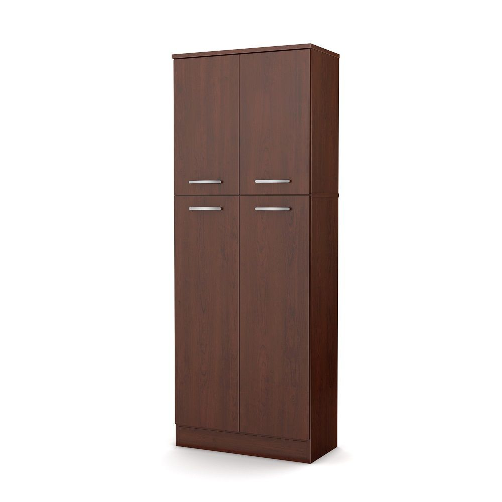 South Shore Axess Storage Pantry, Royal Cherry | The Home ...