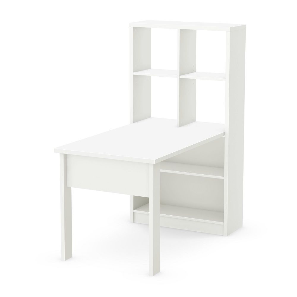 South Shore Annexe Work Table and Storage Unit Combo, Pure White