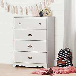 South Shore Caravell 4-Drawer Chest, White Wash