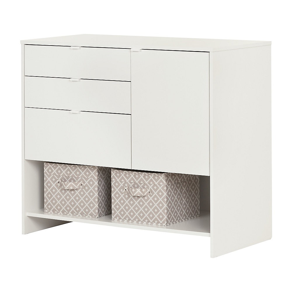 Crea Pure White Craft Storage Cabinet With Drawers