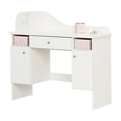 South S Vito Pure White Makeup Desk With Drawer The Home Depot Canada