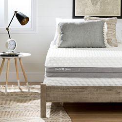South Shore Matelas réversible deux conforts double (54'') de 12''  Somea Sensation, Blanc cassé et gris
