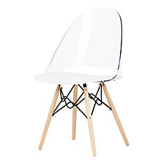 Annexe Clear and White Eiffel Style Office Chair