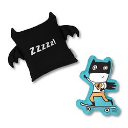South Shore DreamIt Black and Turquoise Superheroes Throw Pillows, (2-Pack)