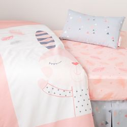 South Shore DreamIt Pink Doudou the rabbit 3-Piece Baby Crib Bed Set and Pillow