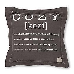 South Shore Coussin décoratif imprimé ''cozy'' Lodge, Gris