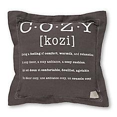 Lodge Gray Throw Pillow Cozy Print