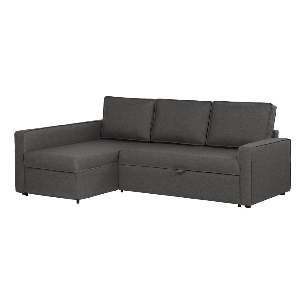 Fine Live It Cozy Sectional Sofa Bed With Storage In Charcoal Gray Andrewgaddart Wooden Chair Designs For Living Room Andrewgaddartcom